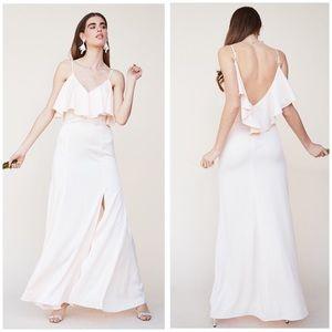 LPA Pink Peekaboo Low Back Gown Maxi Dress NWT S